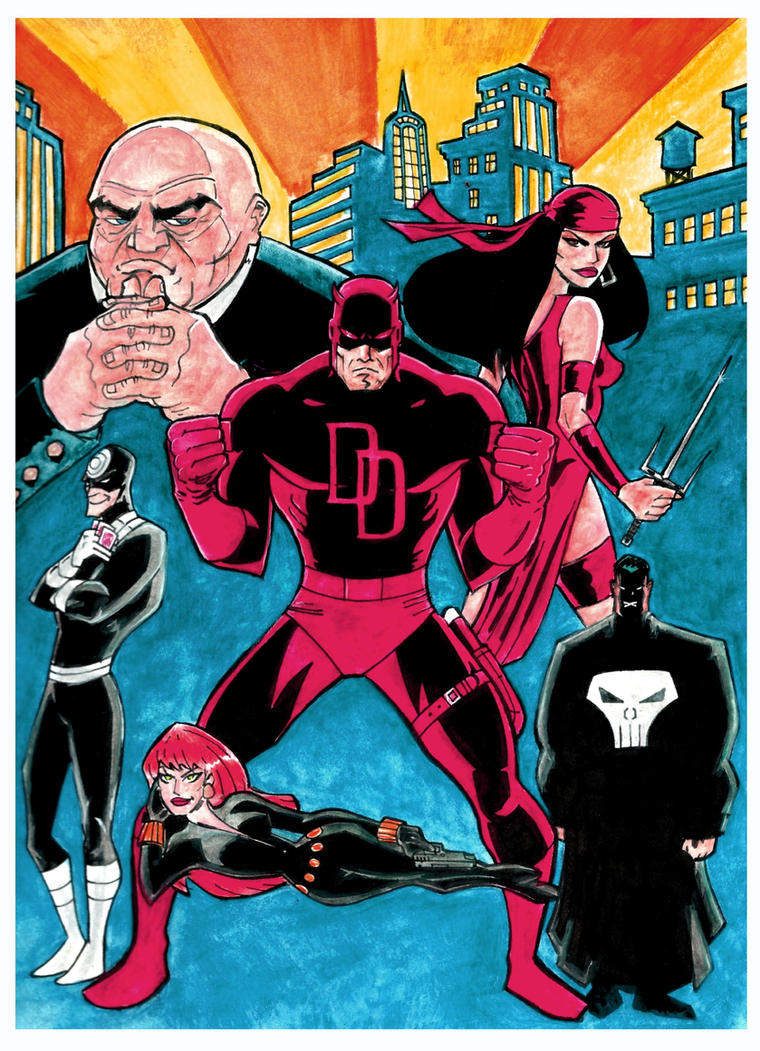 Daredevil Bruce Timm Style by Mathieugeekboy