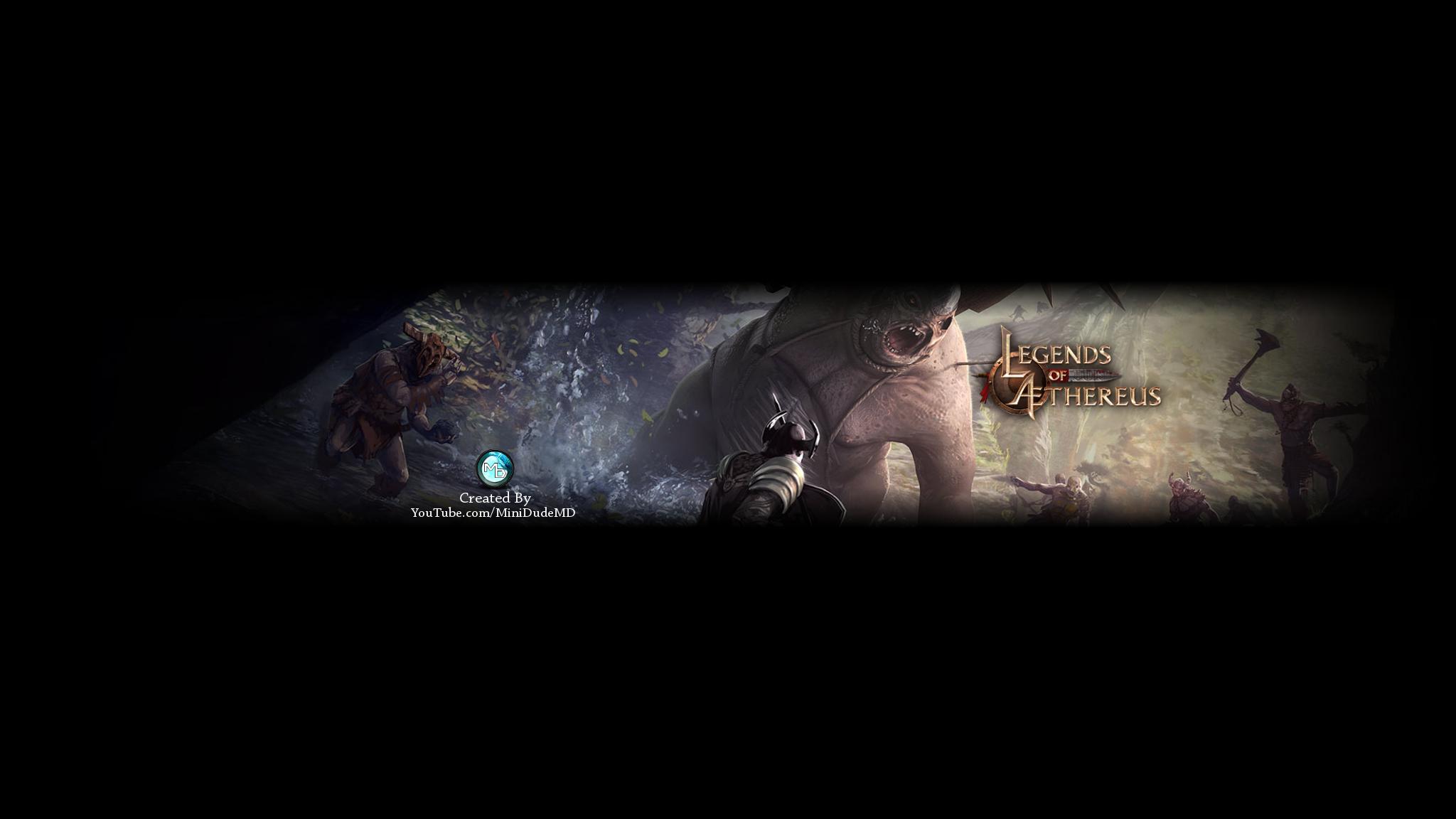 Legends Of Aethereus Youtube Banner V1 By Minidudemd On