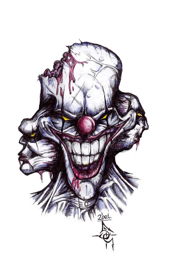 Image Gallery horror clown drawings