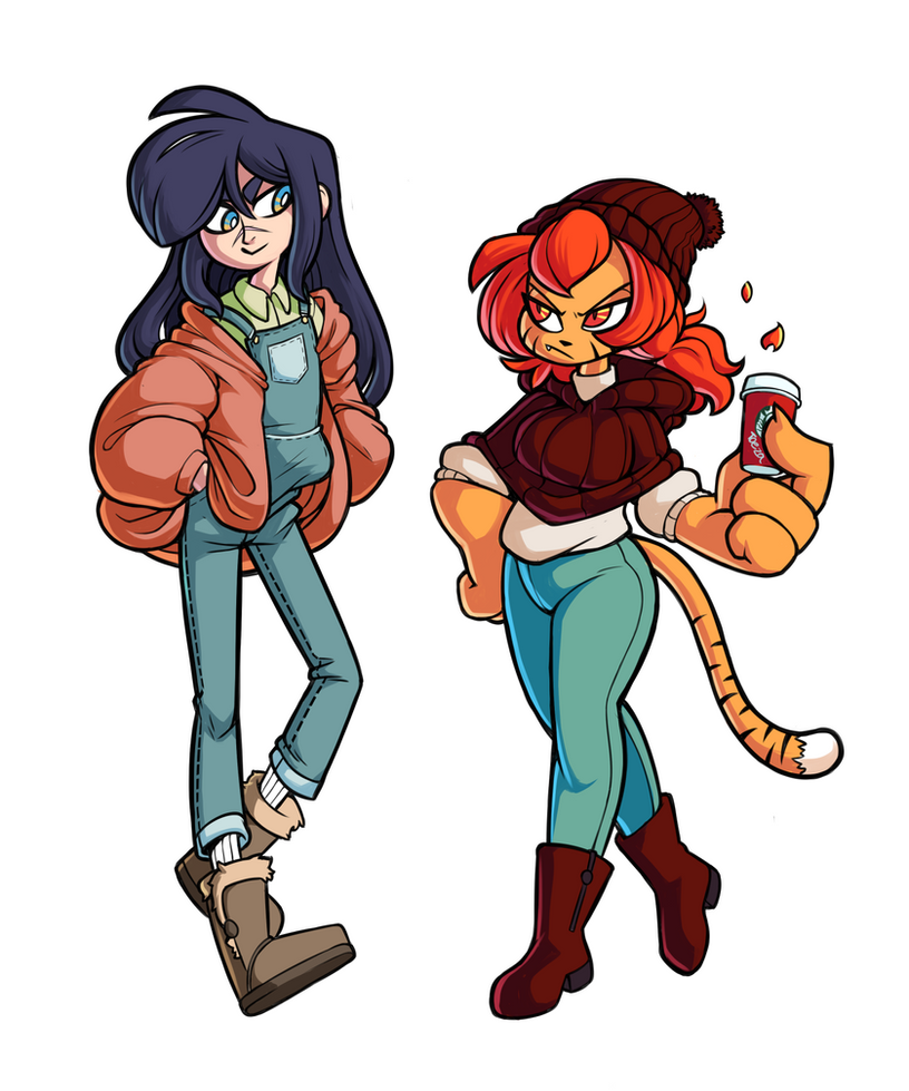 Tozu and Max Fall Attire by Pyanny