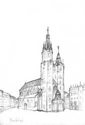 Krakow, Poland - St. Mary Basilica by LadyAnaire