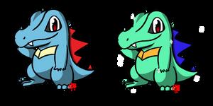 Pokemon #158 - Totodile by Fyreglyphs