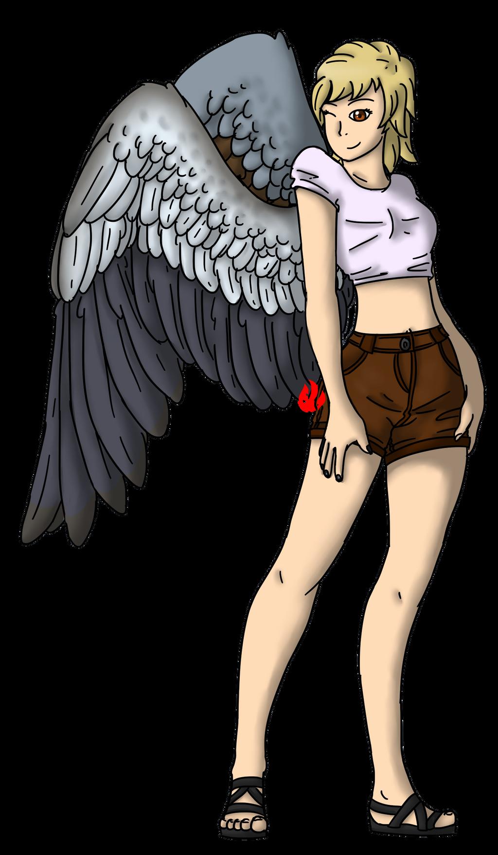 [If I had Wings...] AU - Zytka by Fyreglyphs
