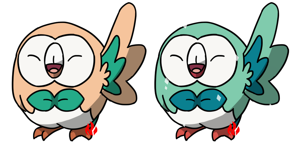 Pokemon #722 - Rowlet by Fyreglyphs
