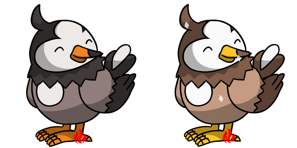 Pokemon #396 - Starly by Fyreglyphs