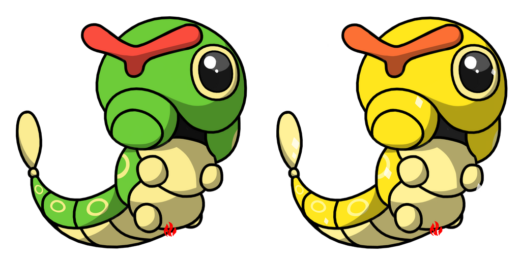 Pokemon #010 - Caterpie by Fyreglyphs