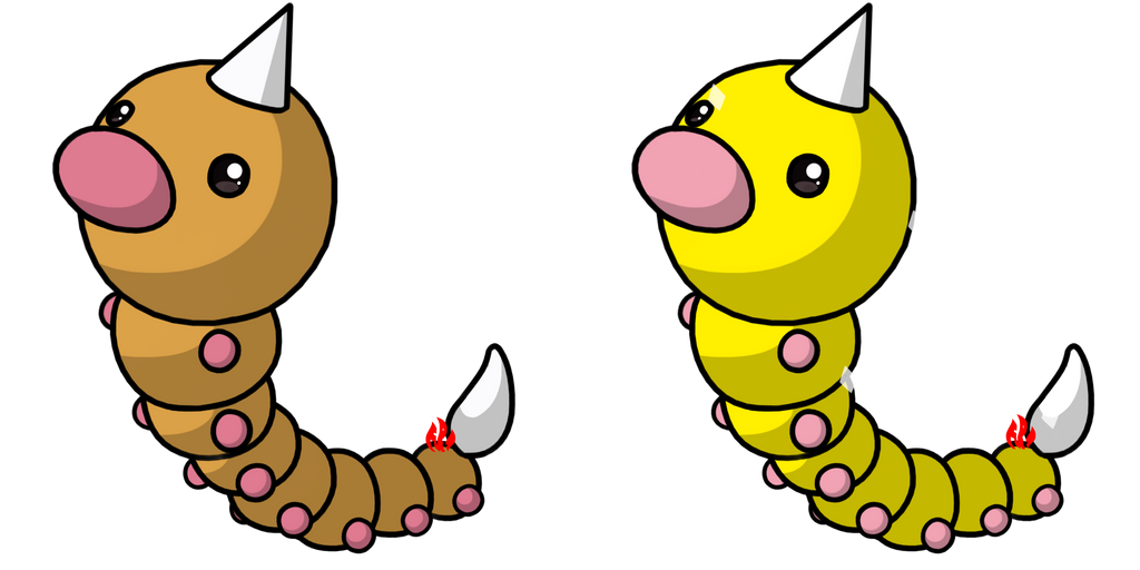 Pokemon #013 - Weedle by Fyreglyphs