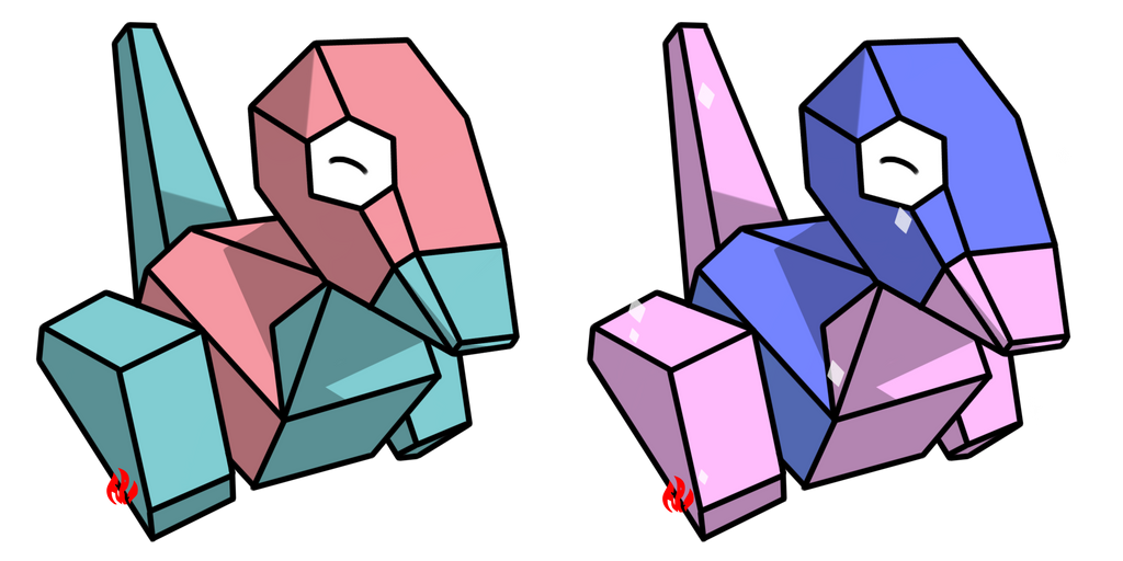 Pokemon #137 - Porygon by Fyreglyphs