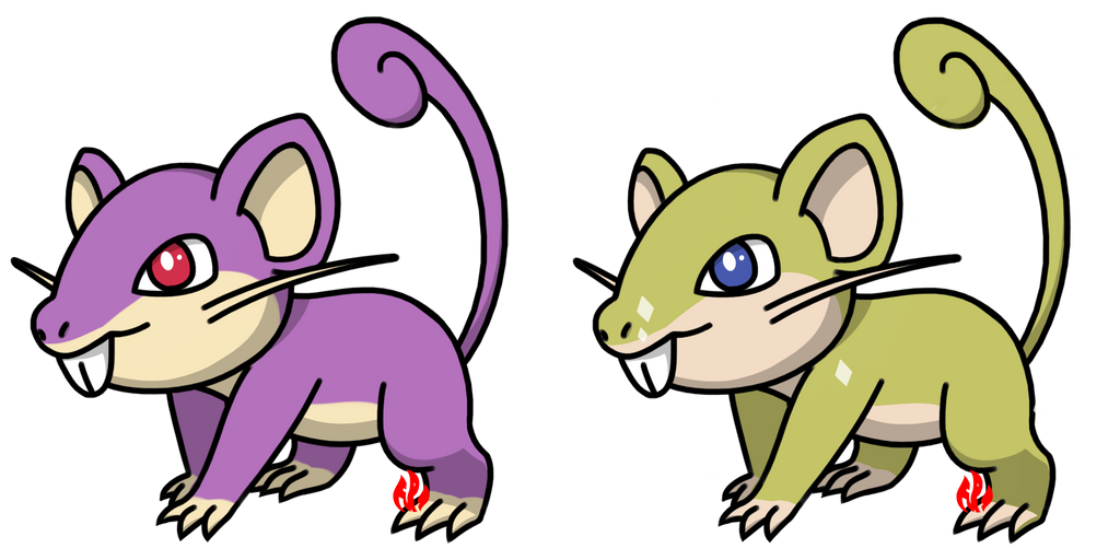Pokemon #019 - Rattata by Fyreglyphs