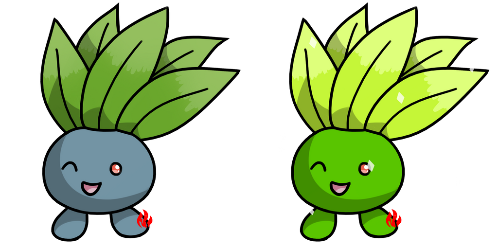 Pokemon #043 - Oddish by Fyreglyphs