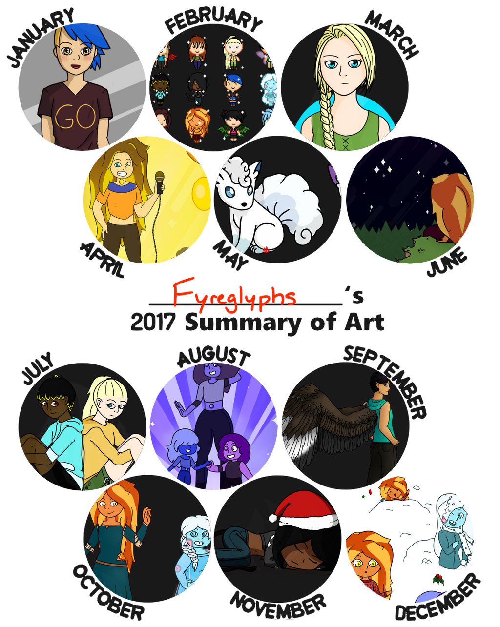 Fyreglyphs' 2017 Summary of Art by Fyreglyphs