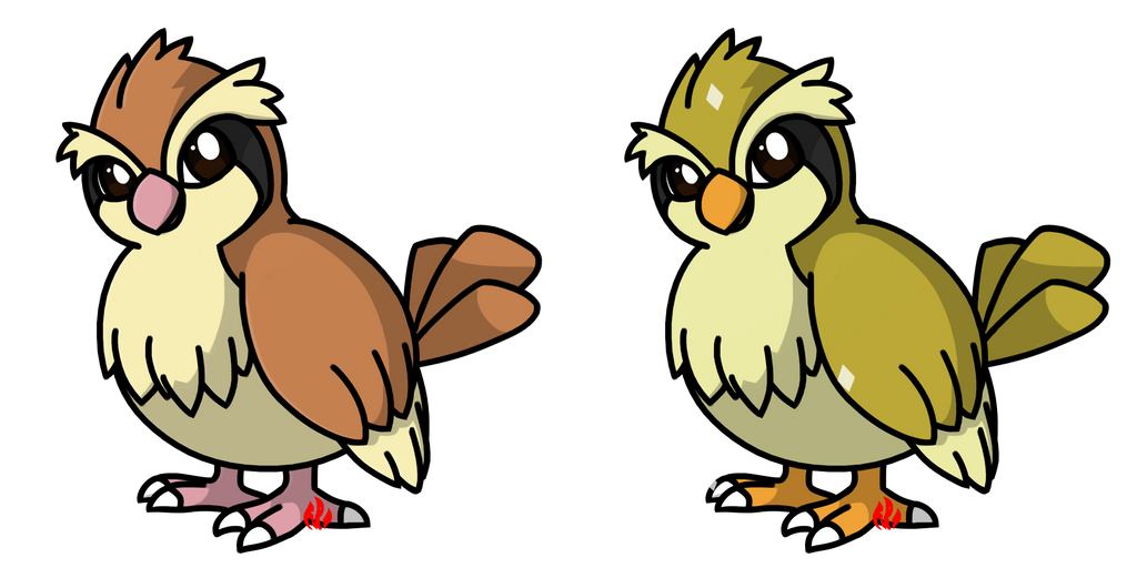 Pokemon #016 - Pidgey by Fyreglyphs