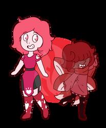 CMM - Red Topaz and Elbaite by Fyreglyphs