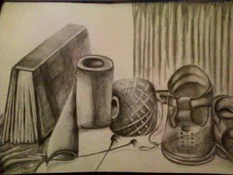 Still life drawing-in pencil