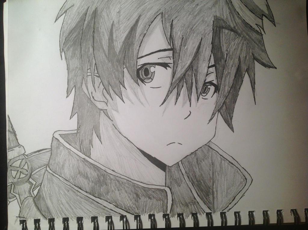 Kirito Drawing By Shadefireart On DeviantArt