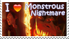 Monstrous Nightmare Stamp by Stampering