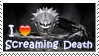 Screaming Death Stamp by Stampering