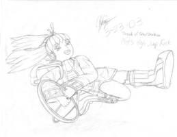Mint's High Jump Kick by K-S-O