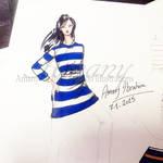 Stripes fashion illustration by AmanyIbrahem