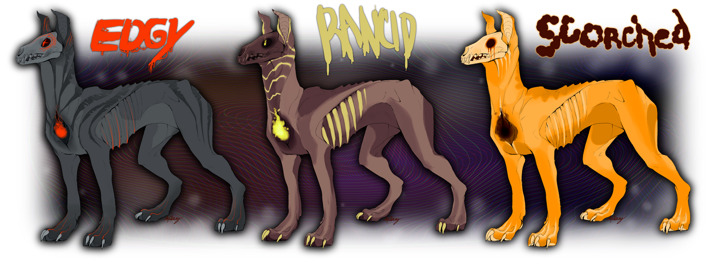 Halloween Hell Hound Adoptables SOLD by gr-ay