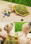 . Turtleman Sculpture .