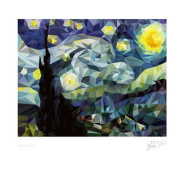 . Poly Starry Night .