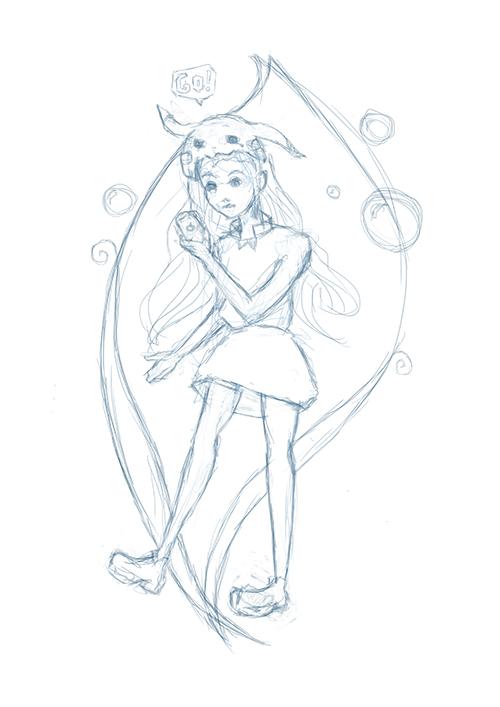 Pokemon girl - sketch by TheArta