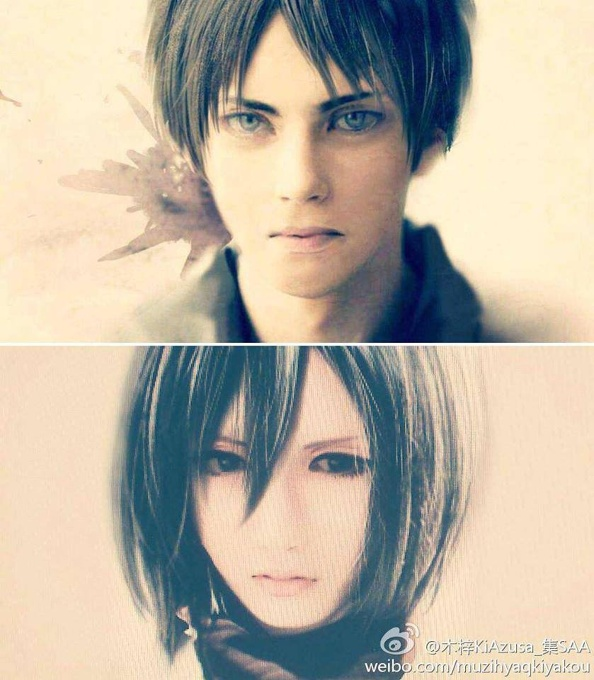Shingeki no Kyojin- Cosplay Eren And Mikasa by Marceline007