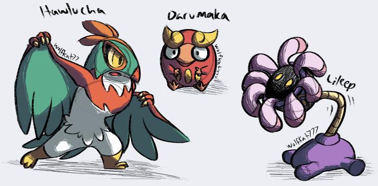Pokemon [Random Generator] Drawings #1 by WolfKat777 on