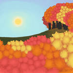 Digital Painting: Autumn Trees