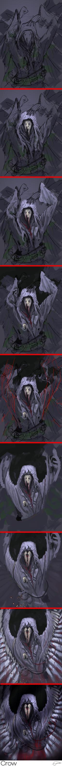 Mortanas The Crow Process by CrayonMechanic