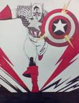 Captain America Color Splash