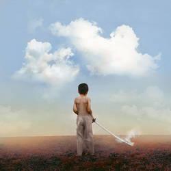 the boy who cut the sky.
