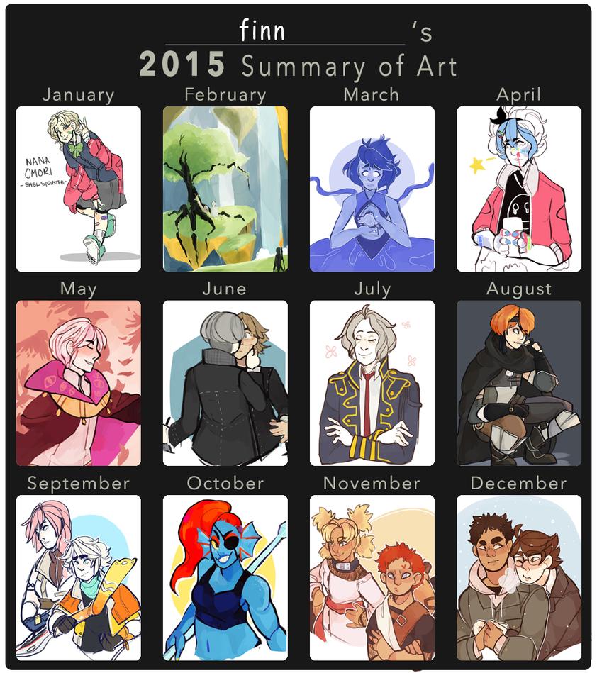 2015 art summary by Twillywho