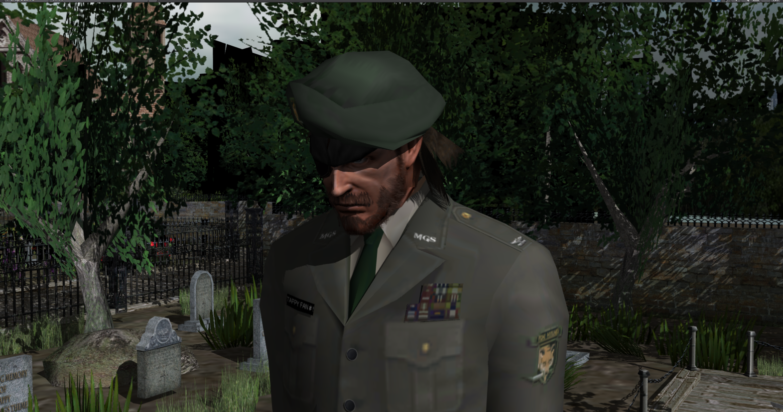 big boss on the grave yard