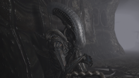 XENOMORPH FROM ALIEN: ISOLATION (resting) by FRANKASTER1987