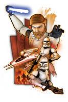 Obi-Wan Kenobi with Clones by SteveAndersonDesign
