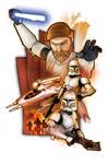 Obi-Wan Kenobi with Clones