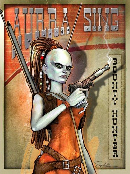 Aurra Sing Bounty Hunter by SteveAndersonDesign