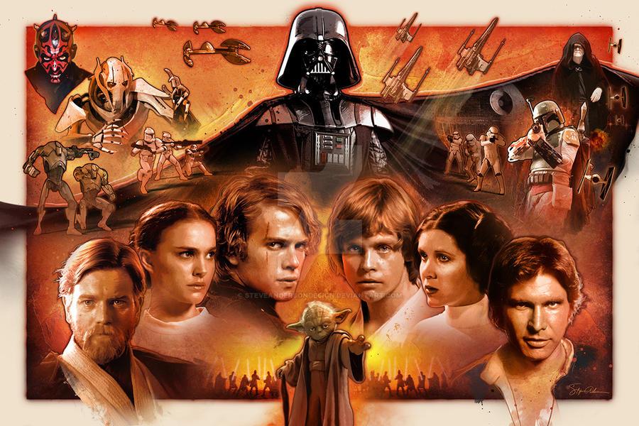 Faces:  Star Wars Saga by SteveAndersonDesign