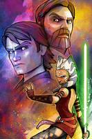 Clone Wars 'The Jedi' by SteveAndersonDesign