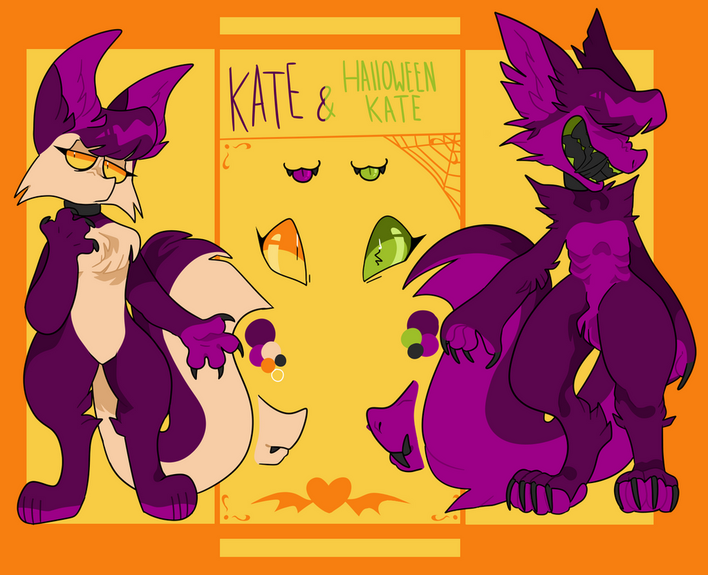 Kate and Halloween Kate reference sheet by Pheuxie