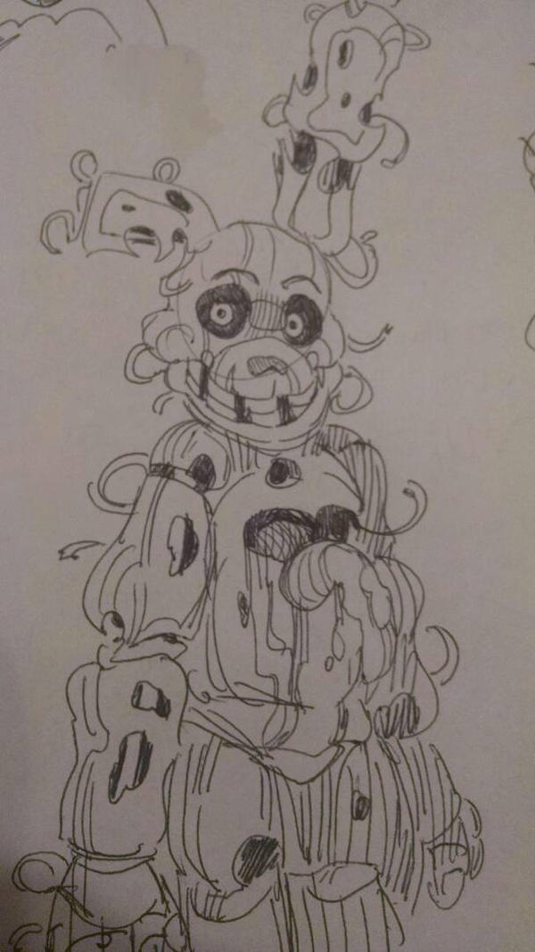 Springtrap sketch 3 by Pheuxie