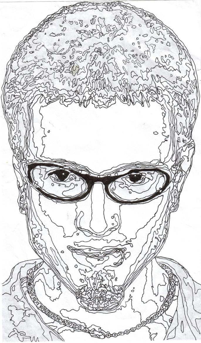 Man S Face Line Drawing : Line face by paper bag man on deviantart