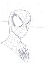 Spiderman Bust WIP by bathill8