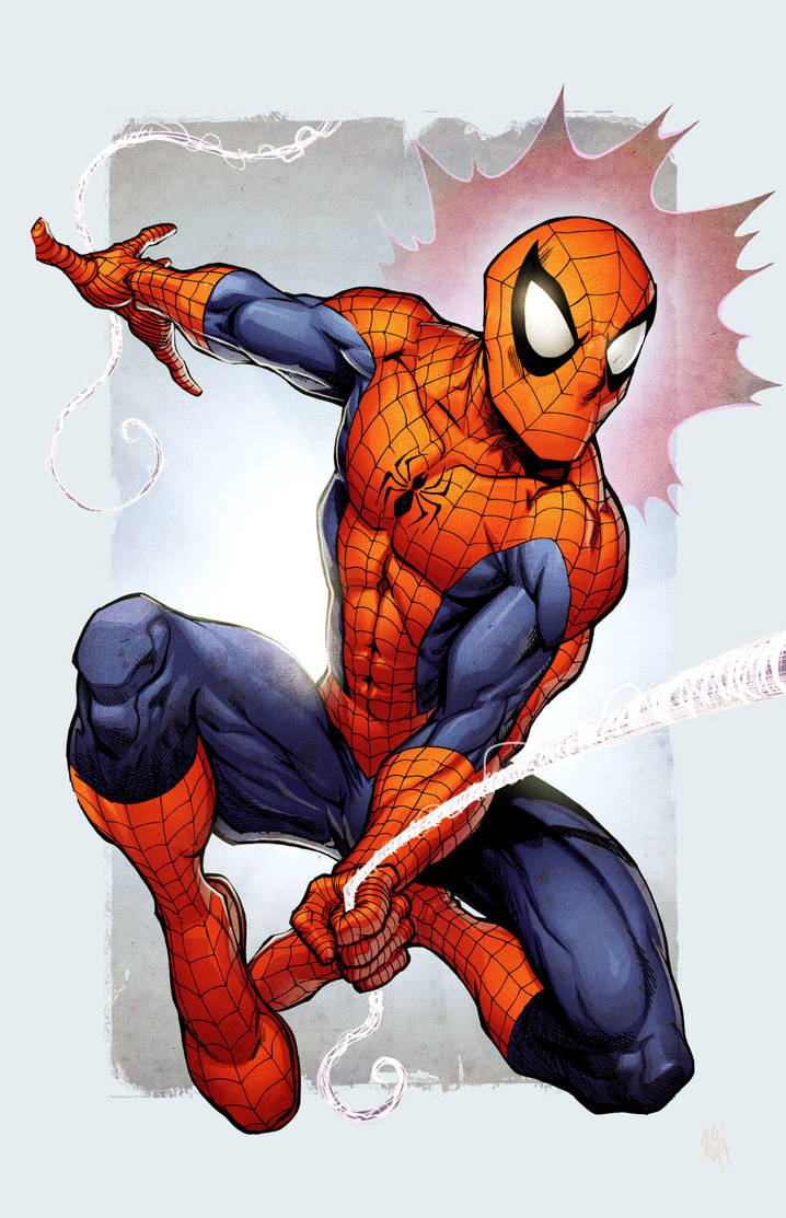 Spidey colors by Simon