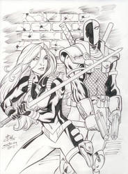 Rose and DeathStroke