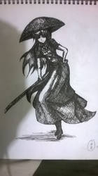 Byakuren Hijiri - Pen and Ink by TheYoukaiofDimension