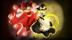 Dream Battle: Reimu vs Marisa - Speedpainting