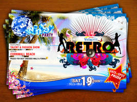 Retro Party Flyer by yanic